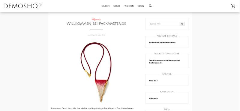 Gambio WordPress Integration jetzt bei Packmaster.de
